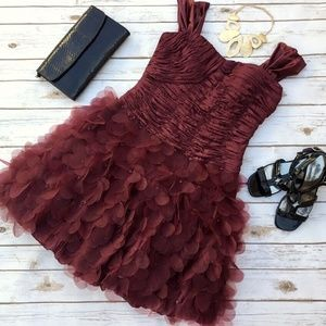 Maroon Cocktail Party Dress by Sue Wong Nocturne